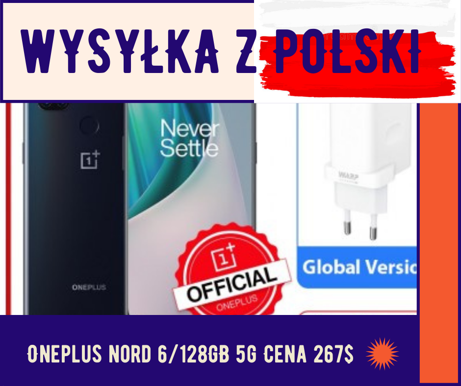 OnePlus Nord N10 6/128GB Snapdragon 690 5G Global z Polski